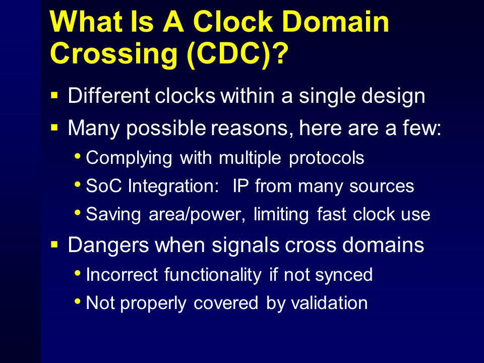 What Is A Clock Domain Crossing (CDC)
