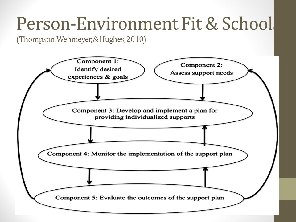 Person-Environment Fit & Schools (Thompson, Wehmeyer, & Hughes, 2010)