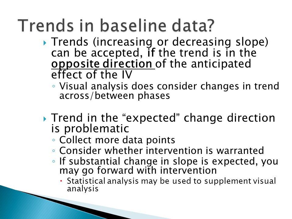 Trends in baseline data