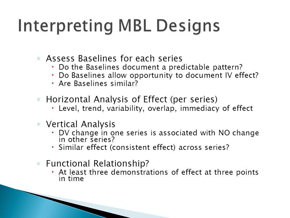 Interpreting MBL Designs