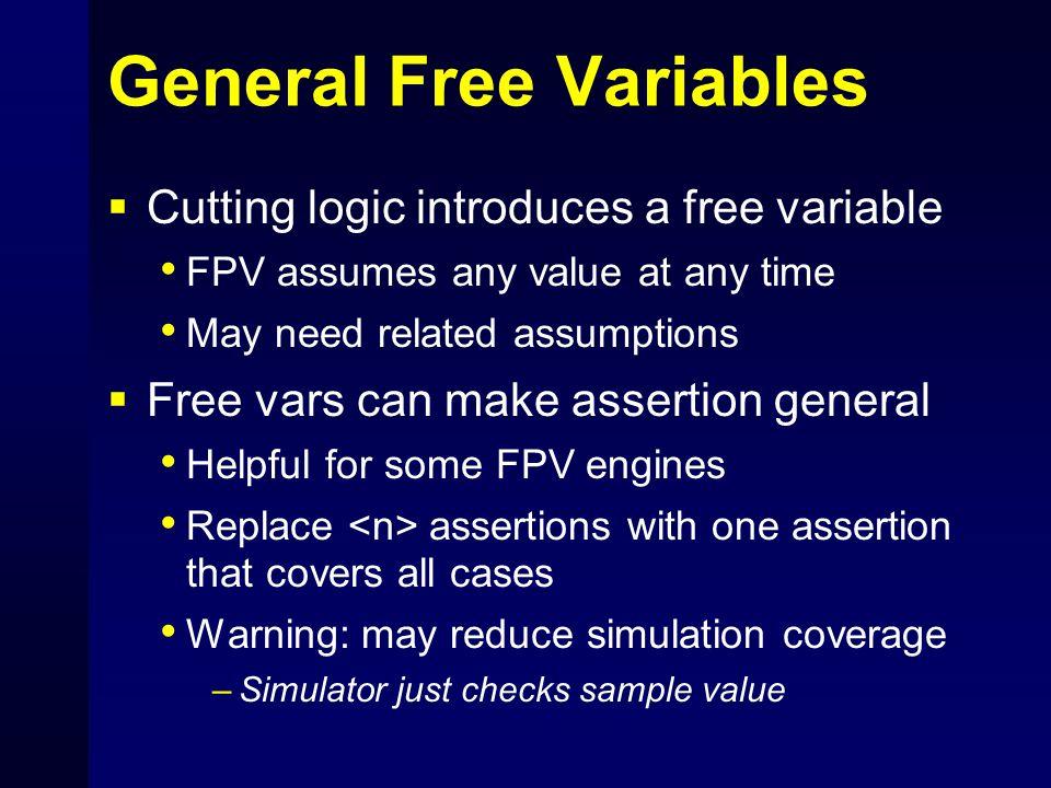 General Free Variables