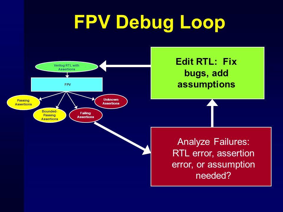 Edit RTL: Fix bugs, add assumptions