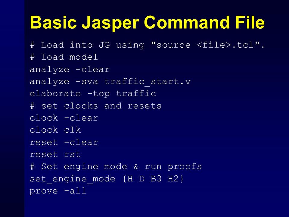 Basic Jasper Command File