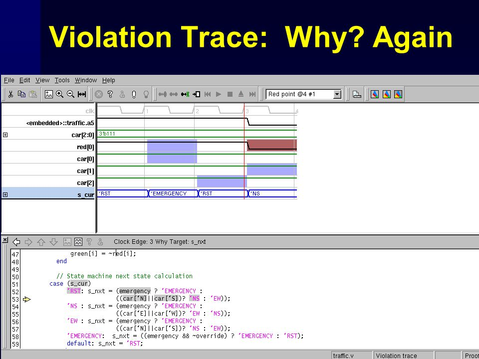 Violation Trace: Why Again