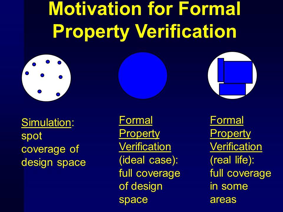 Motivation for Formal Property Verification