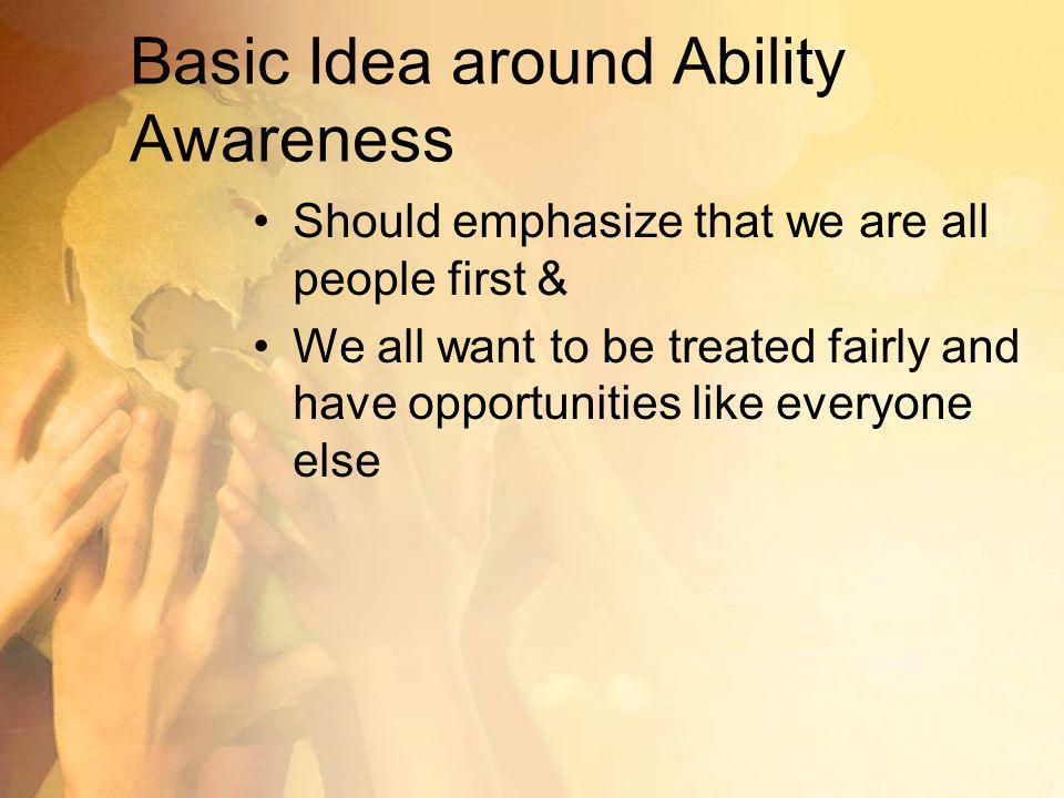 Basic Idea around Ability Awareness