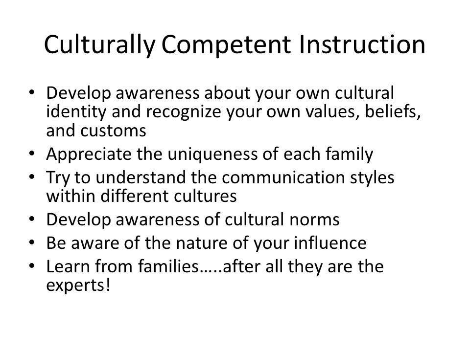 Culturally Competent Instruction