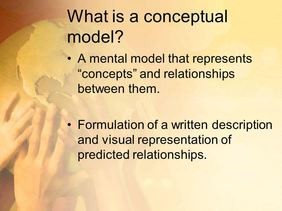 What is a conceptual model
