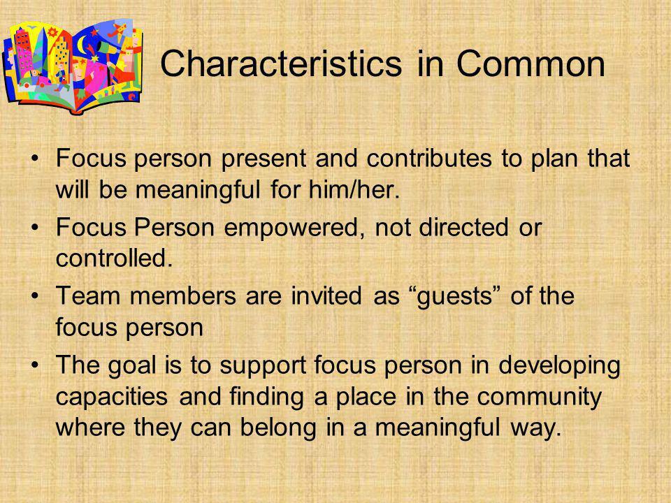 Characteristics in Common