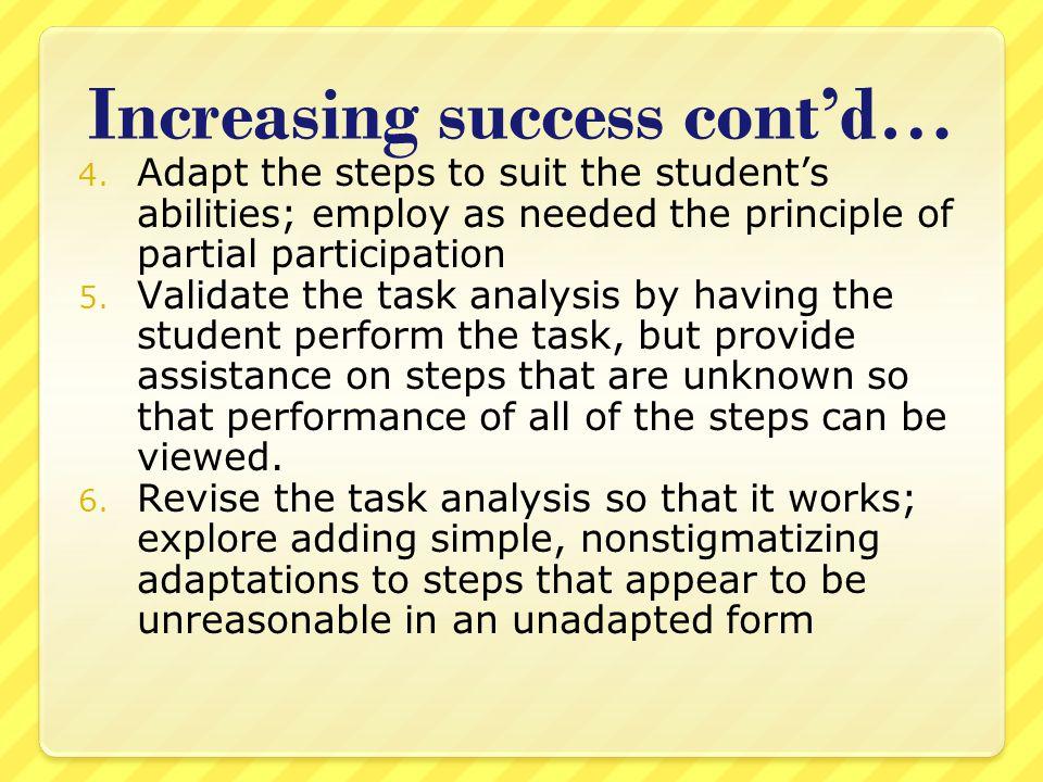 Increasing success cont'd…
