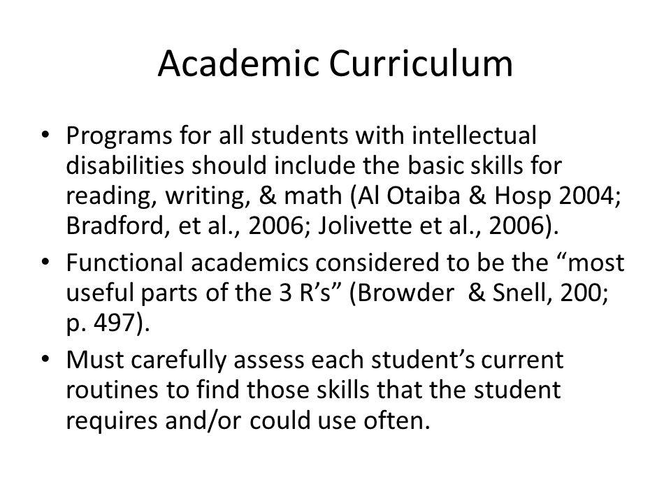 Academic Curriculum