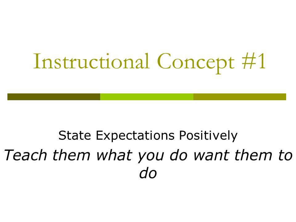 Instructional Concept #1