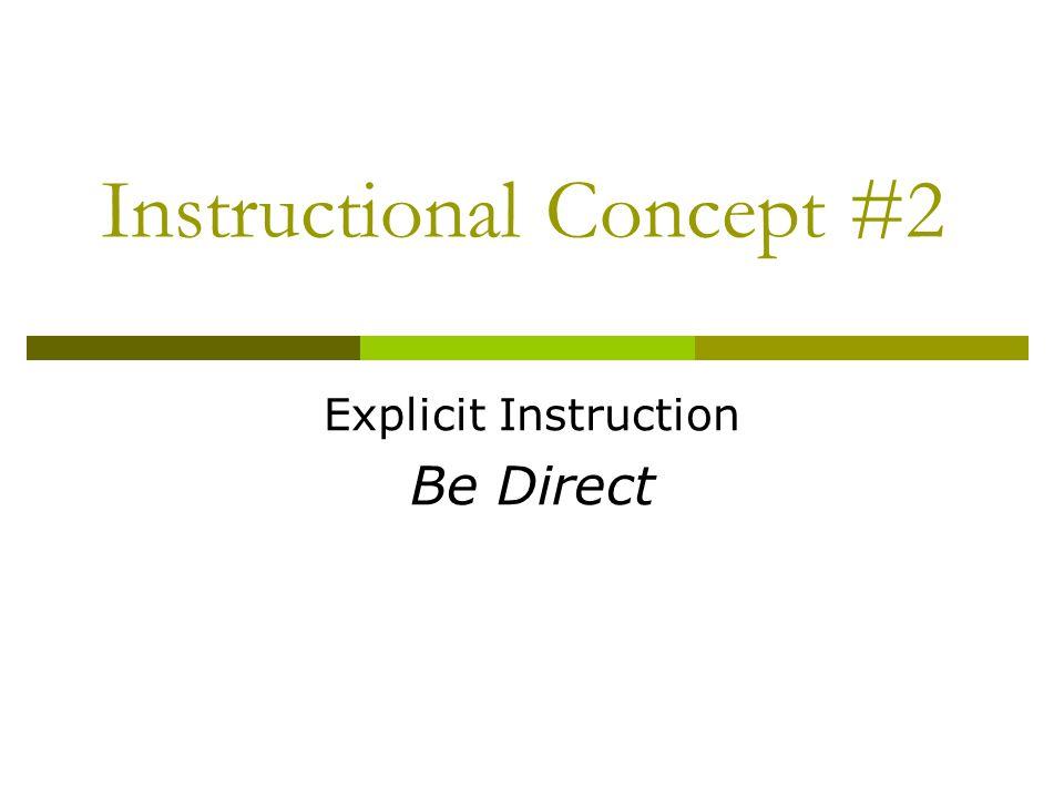 Instructional Concept #2