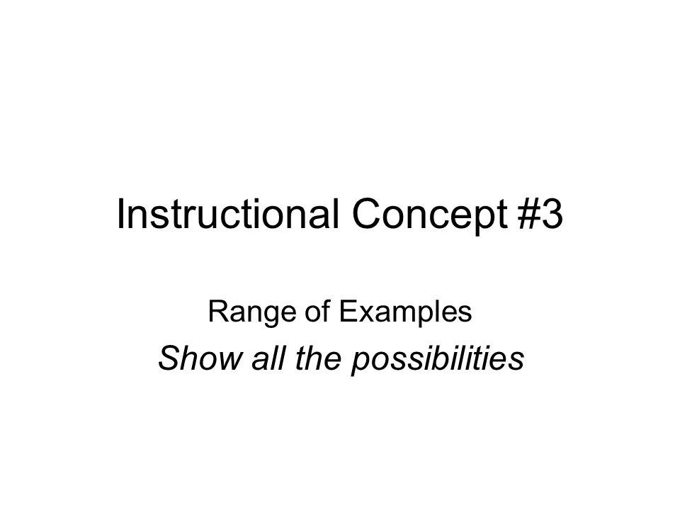 Instructional Concept #3