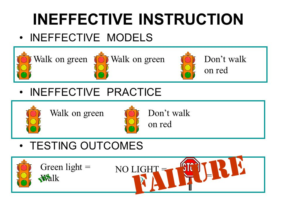 INEFFECTIVE INSTRUCTION
