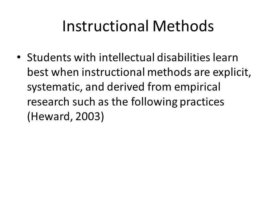 instructional methods and techniques