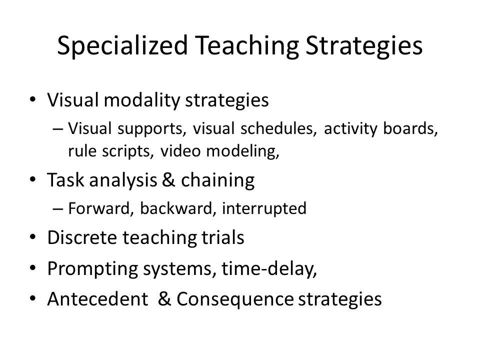 Specialized Teaching Strategies