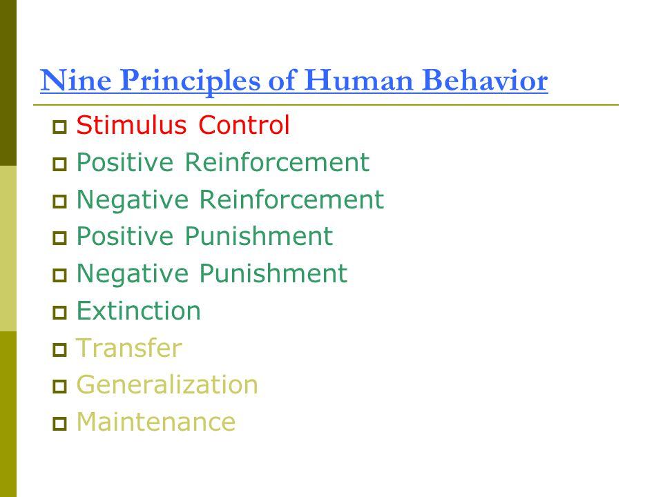 Nine Principles of Human Behavior