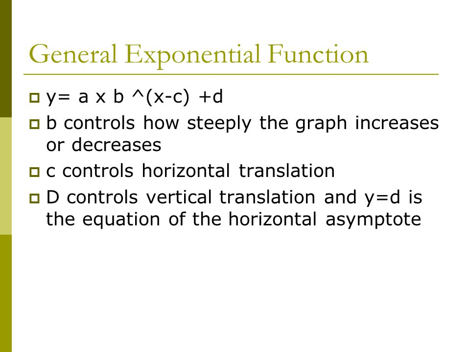 General Exponential Function