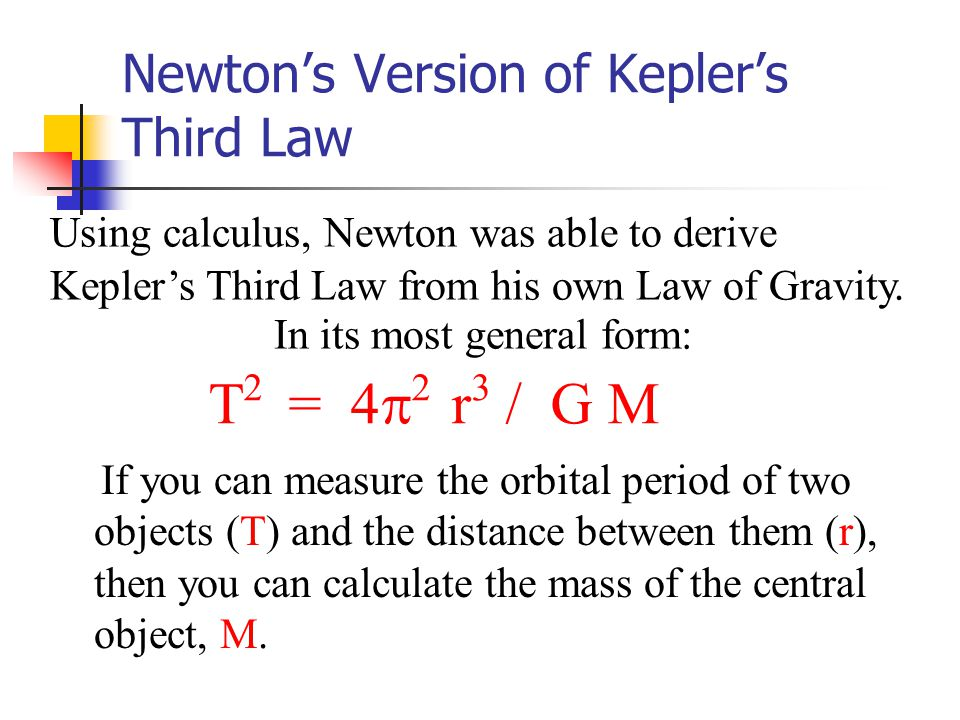 Newton's Version of Kepler's Third Law