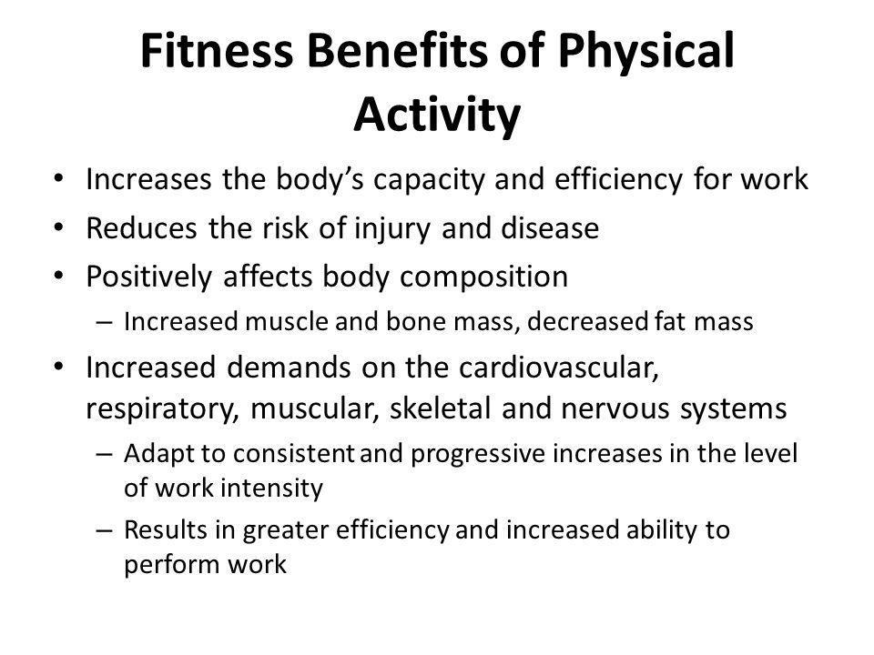 Fitness Benefits of Physical Activity
