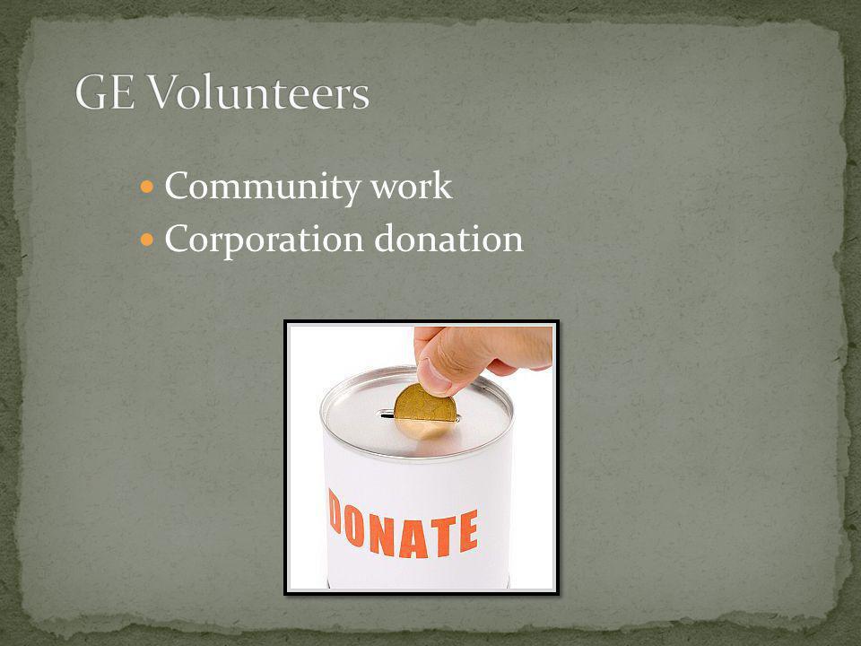 GE Volunteers Community work Corporation donation