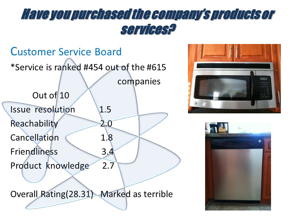 Have you purchased the company's products or services