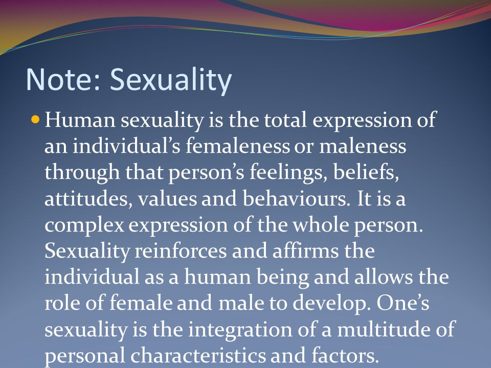 Note: Sexuality