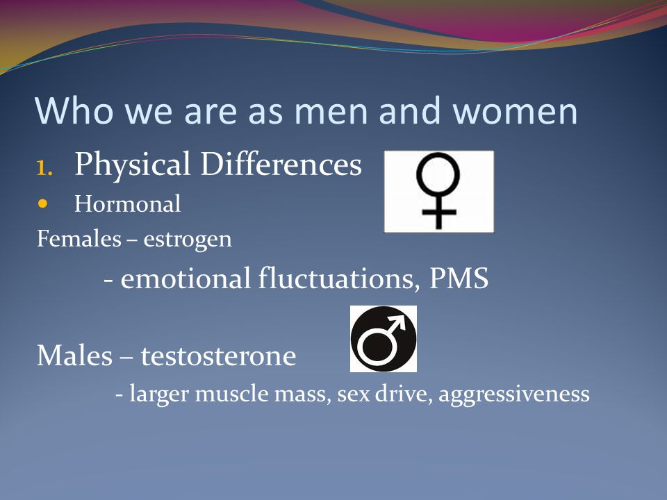 Who we are as men and women