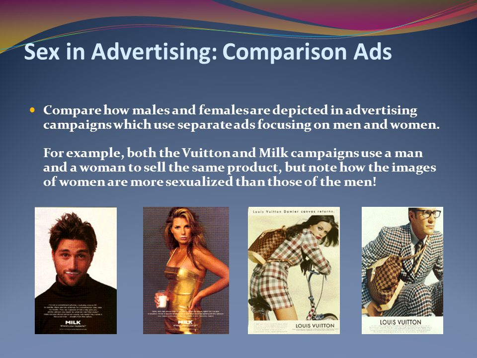 Sex in Advertising: Comparison Ads