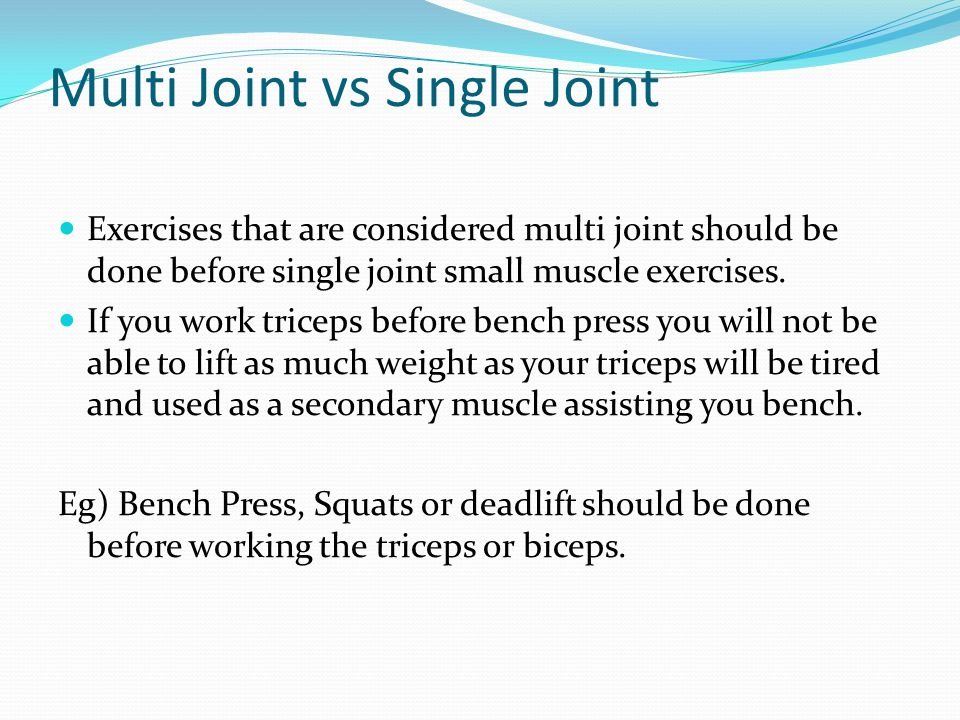 Multi Joint vs Single Joint