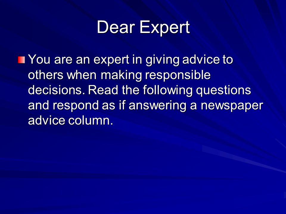 Dear Expert