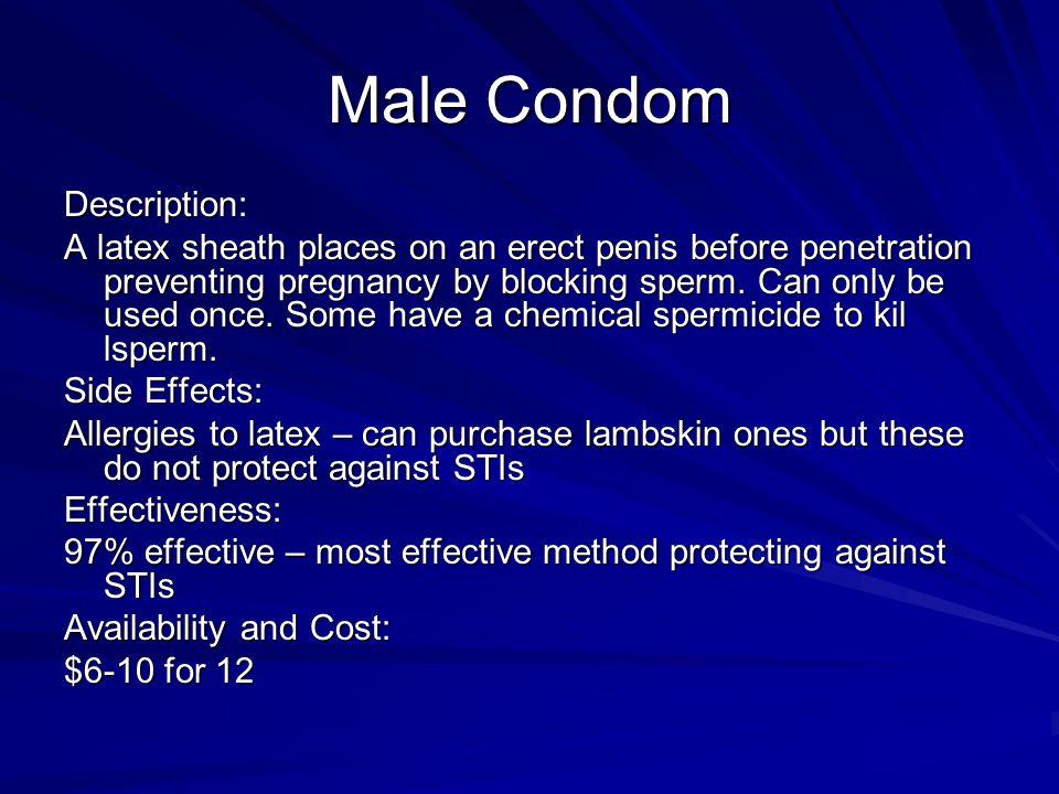Male Condom Description: