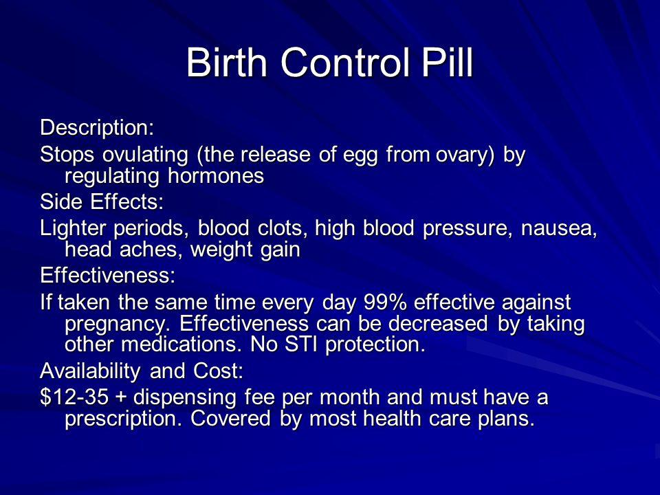 Birth Control Pill Description: