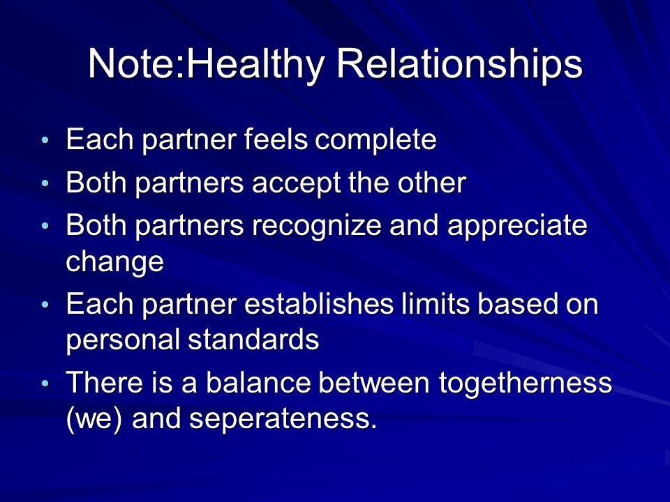 Note:Healthy Relationships