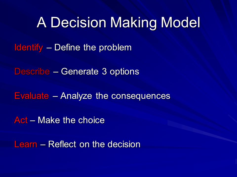 A Decision Making Model