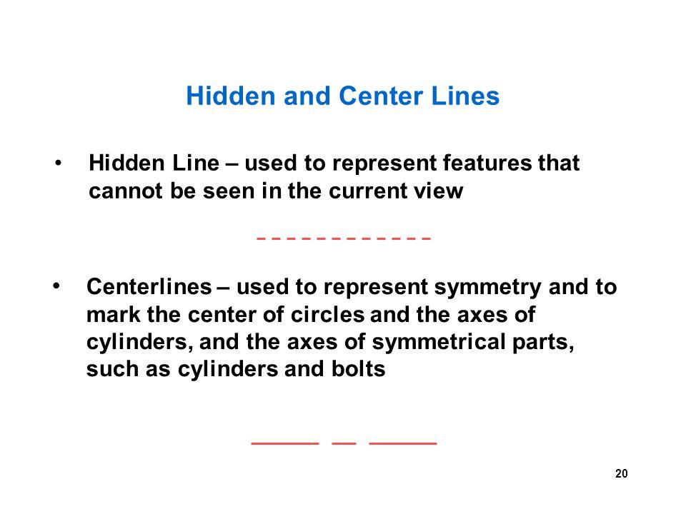Hidden and Center Lines