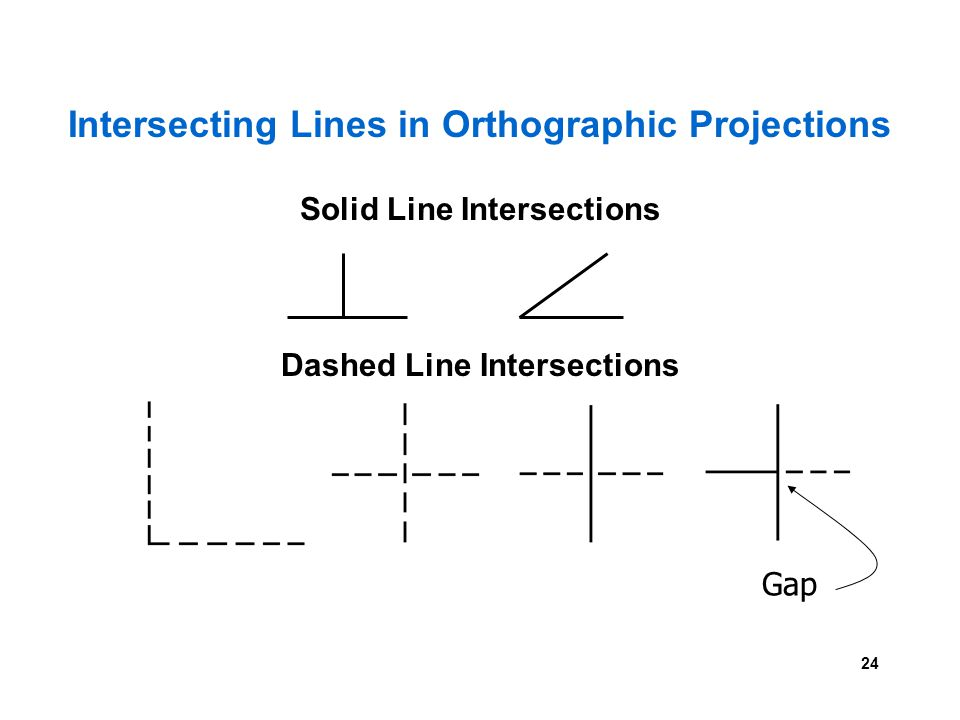 Intersecting Lines in Orthographic Projections
