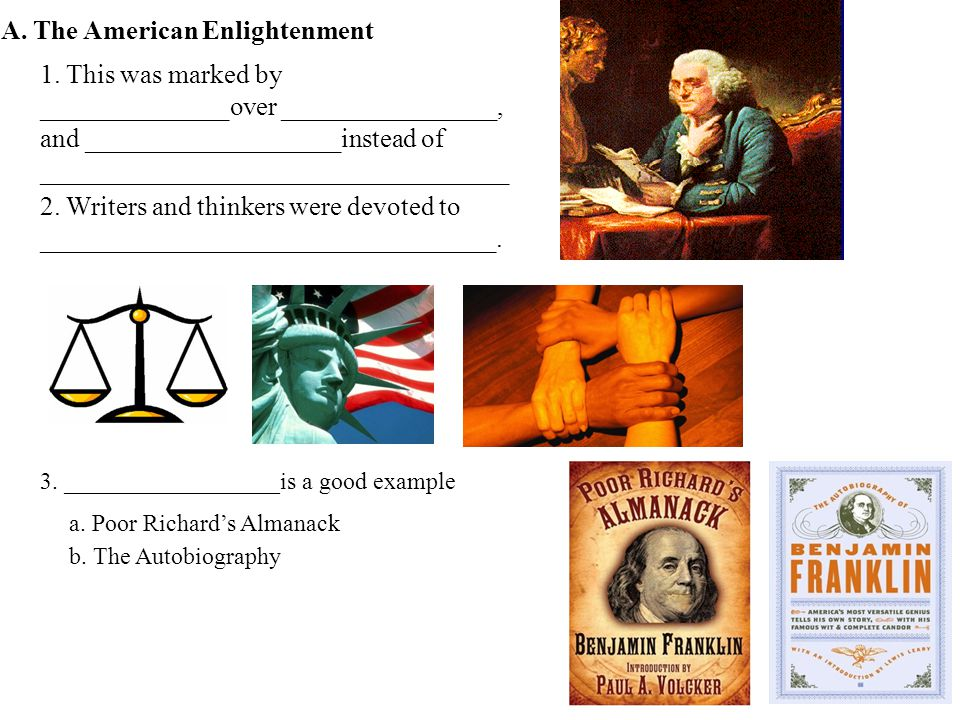 A. The American Enlightenment