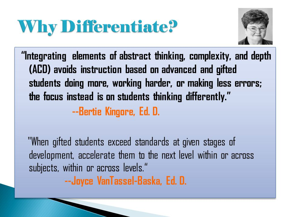 Why Differentiate
