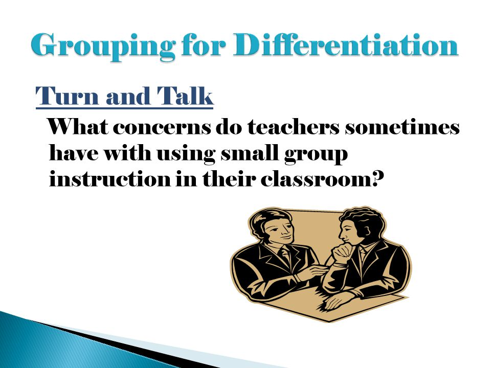 Grouping for Differentiation
