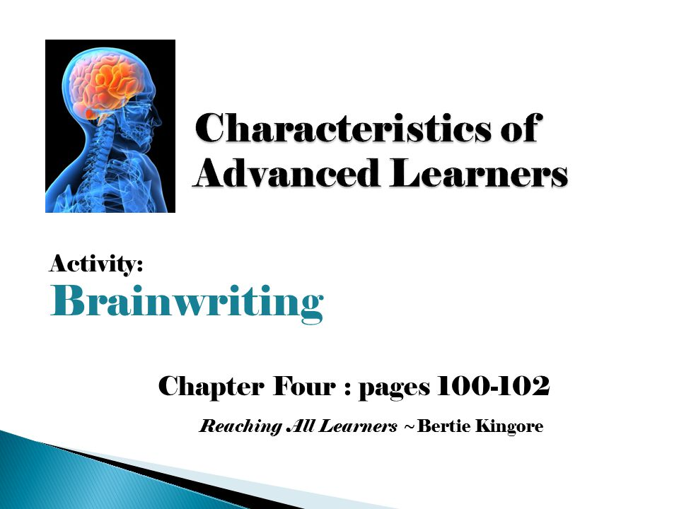 Characteristics of Advanced Learners