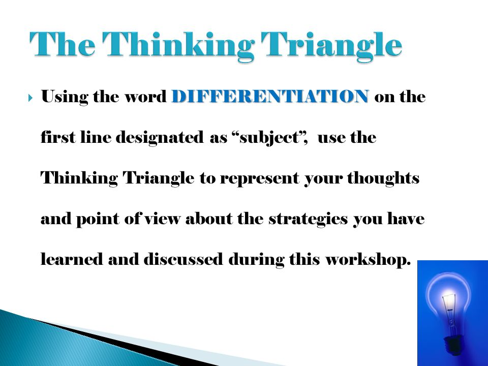The Thinking Triangle