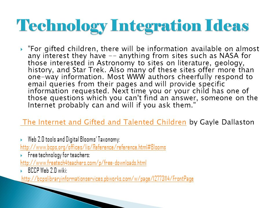 Technology Integration Ideas