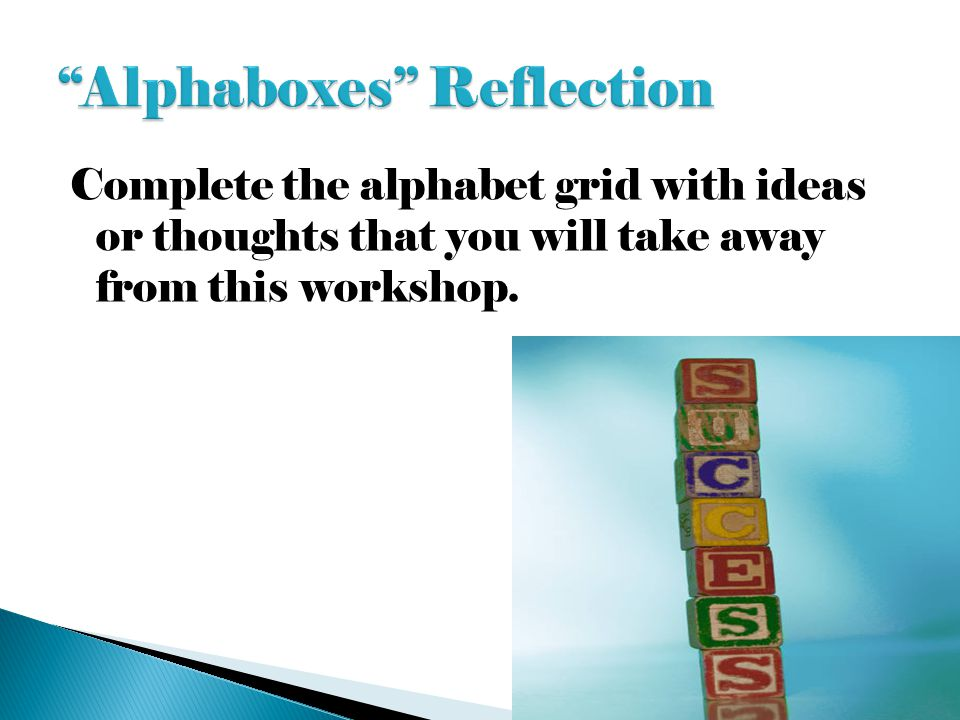 Alphaboxes Reflection
