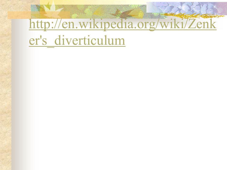 http://en.wikipedia.org/wiki/Zenker s_diverticulum