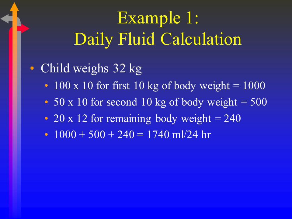 Example 1: Daily Fluid Calculation