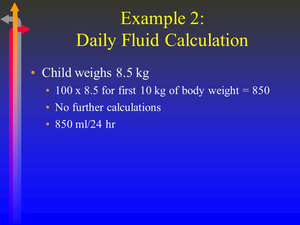 Example 2: Daily Fluid Calculation