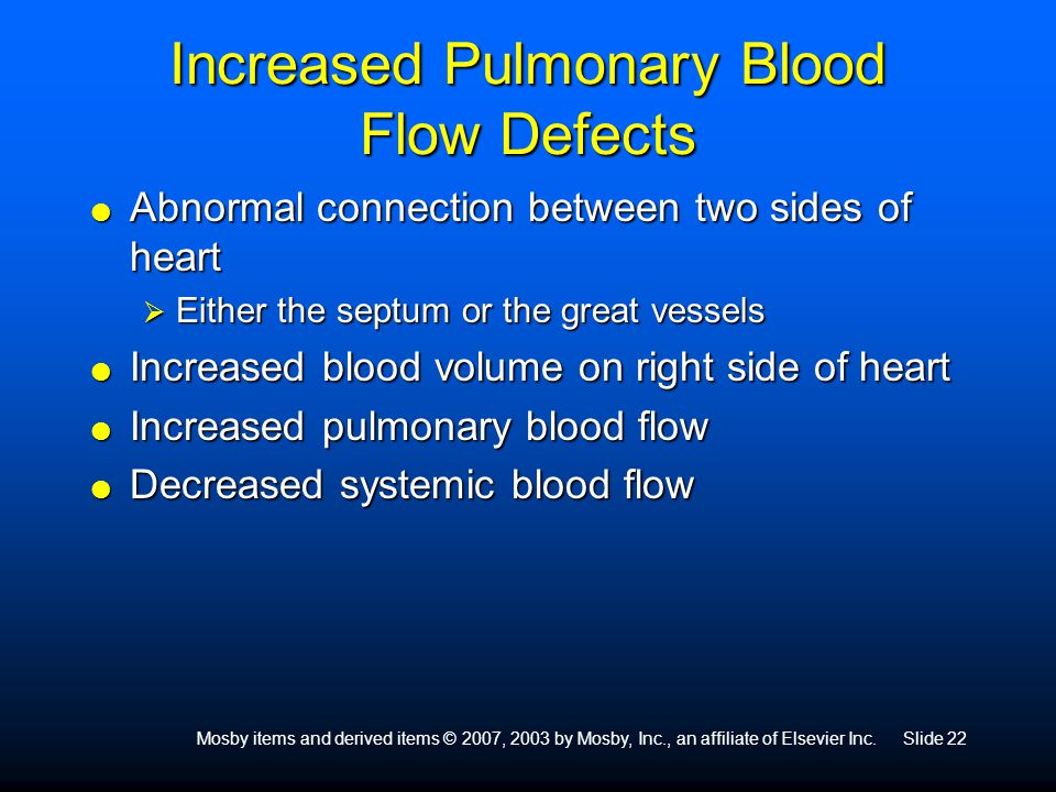 Increased Pulmonary Blood Flow Defects