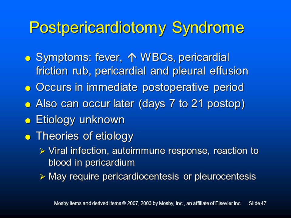 Postpericardiotomy Syndrome
